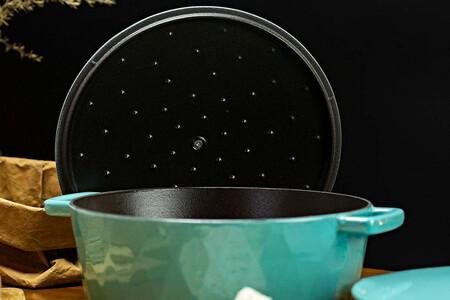 Puntitos para la condensación. Foto: Hearthstone Cookware