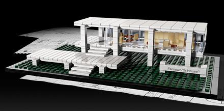 Foto de La casa Farnsworth en Lego (1/7)