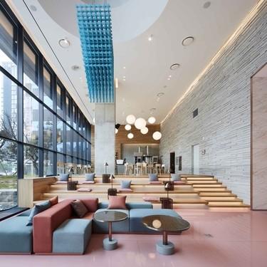 Monumental en dimensiones y en diseño, así es el nuevo hotel Ryse de Seúl