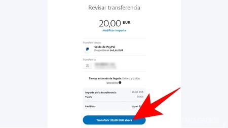 Transferir Dinero