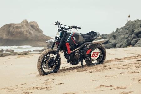 The Orbiter, la espacialmente scramblerizada Yamaha XSR700 de los portugueses Maria Motorcycles