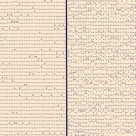 Comparación de los símbolos de puntuación de Absalom, Absalom! y Meridiano de sangre.