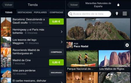 Minube lanza Minube Store en su aplicación para iOS, una tienda donde el usuario podrá adquirir listas temáticas para sus viajes