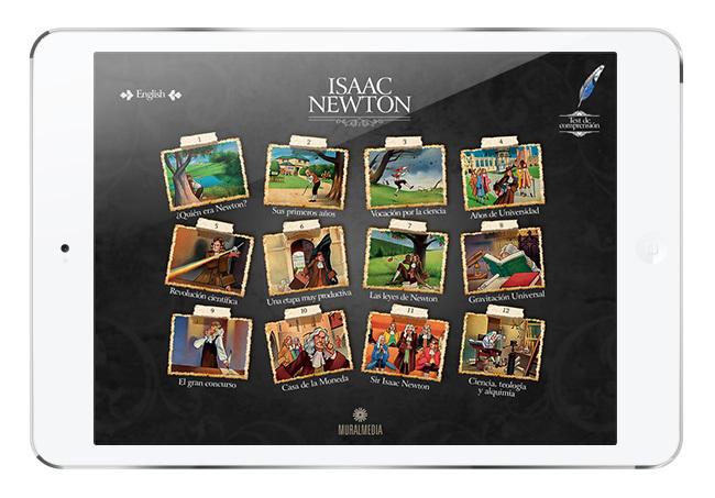 Isaac Newton App, recuperando el estilo de los cuentos clásicos con la magia del iPad