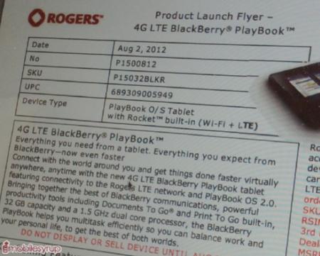 Desvelados los precios del BlackBerry PlayBook 4G LTE