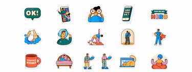 WhatsApp (junto a la OMS) lanza unos stickers para que expresemos cómo vivimos la cuarentena