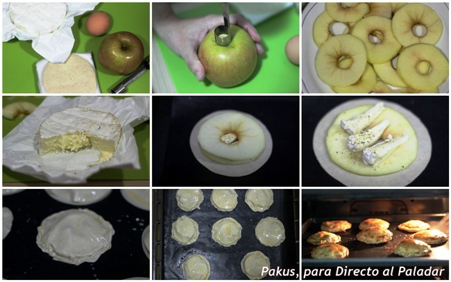 camembert y manzana paso a paso