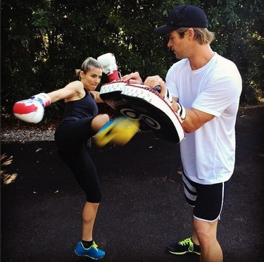Con un entrenador como Chris Hemsworth, me pongo el chandal hasta yo
