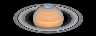 Las espectaculares auroras de Saturno lucen en todo su esplendor gracias a esta imagen cortesía del Hubble