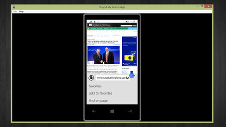 Ya es posible proyectar la pantalla de Windows Phone 8.1 en tu PC