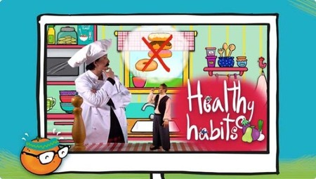 imagenes de habitos saludables para niños en ingles