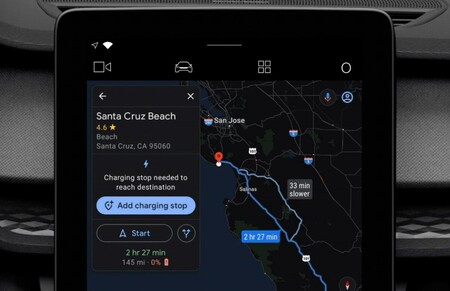 Android Auto Google Maps Recharge Point