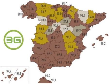 Mapa Cobertura 3G en España