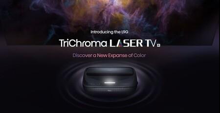 """Hisense lanza el L9G TriChroma Laser TV, un proyector láser 4K de tiro ultracorto y 120"""" para competir con las teles de gran formato"""
