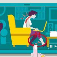 Cómo evitar malas posturas delante del ordenador