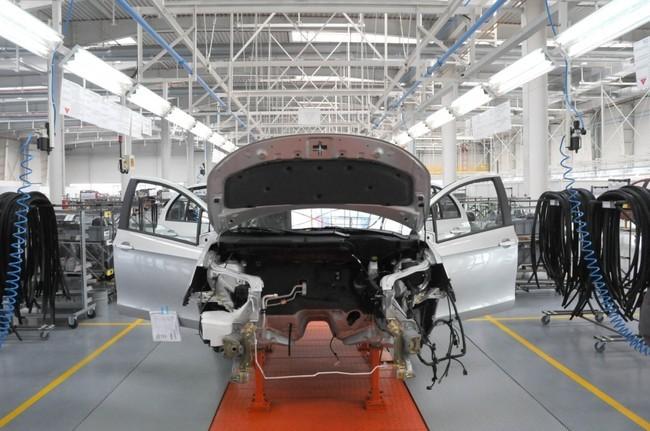 Fabricación de coches en China