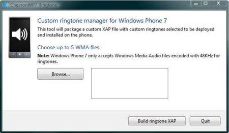 ChevronWP7 te permite poner tonos de llamada en Windows Phone 7