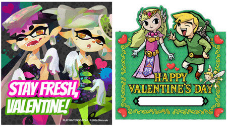 Nintendo comparte varias tarjetas y extras para que este catorce de febrero sea muy especial