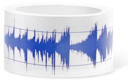 Cinta adhesiva con onda de sonido