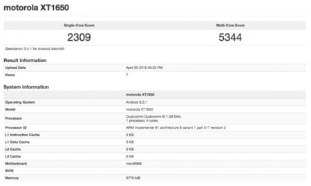 Moto X Geekbench
