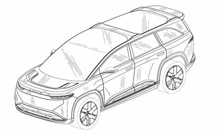 El Lucid Gravity se escapa del registro de patentes: el SUV que quiere machacar al Tesla Model X sale de la penumbra