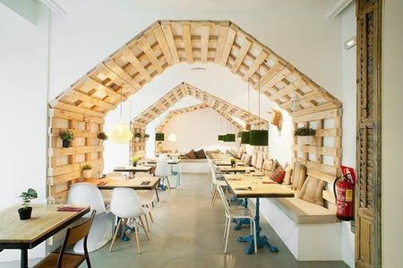 Mr Frank, un restaurante acogedor y especial en el que la madera es la protagonista