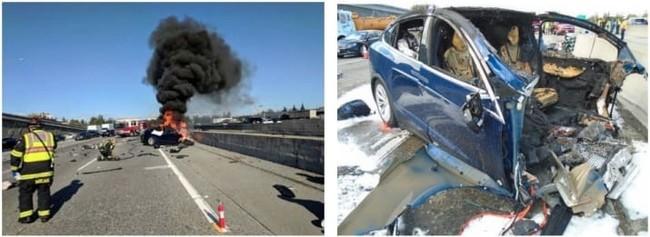 Tesla Model X Accidente 2