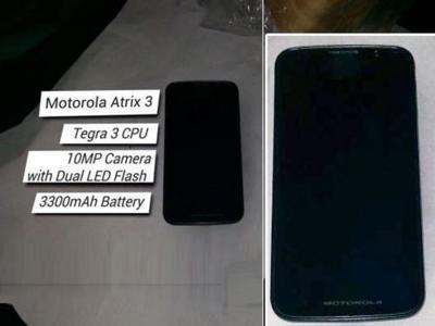 Espectaculares características del Motorola Atrix 3 salen a la luz