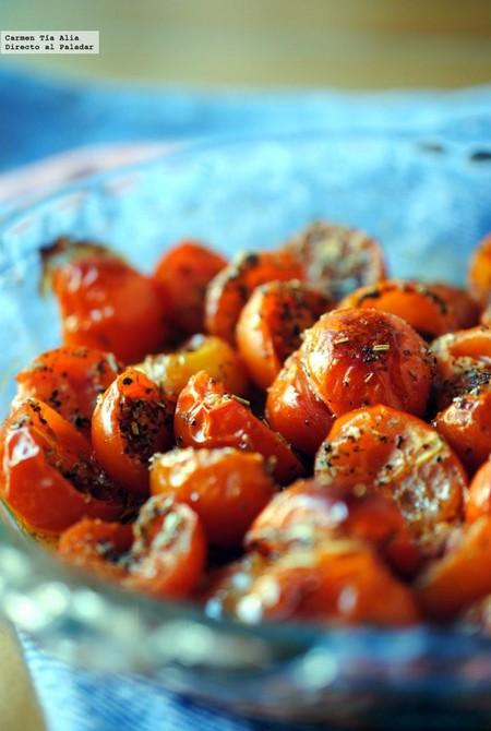 Tomates cherry asados a las hierbas provenzales: receta fácil y rápida de guarnición