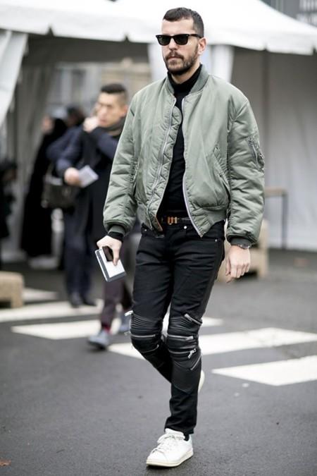 El mejor street style de la semana abrigos de corte for Thousand yard style