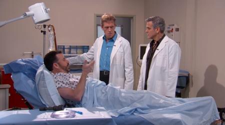 George Clooney y Hugh Laurie intentan operar a Jimmy Kimmel en la imagen de la semana