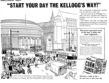 Mid 50s The First Kelloggs Press Ad Targeting Manchester 6176481