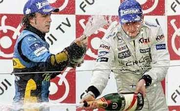 Alonso y Raikkonen