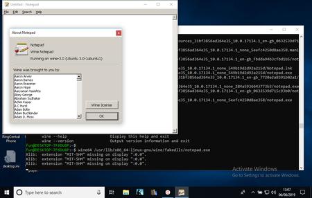 Logran ejecutar Wine en Windows 10 gracias al subsistema Linux porque, ¿por qué no?