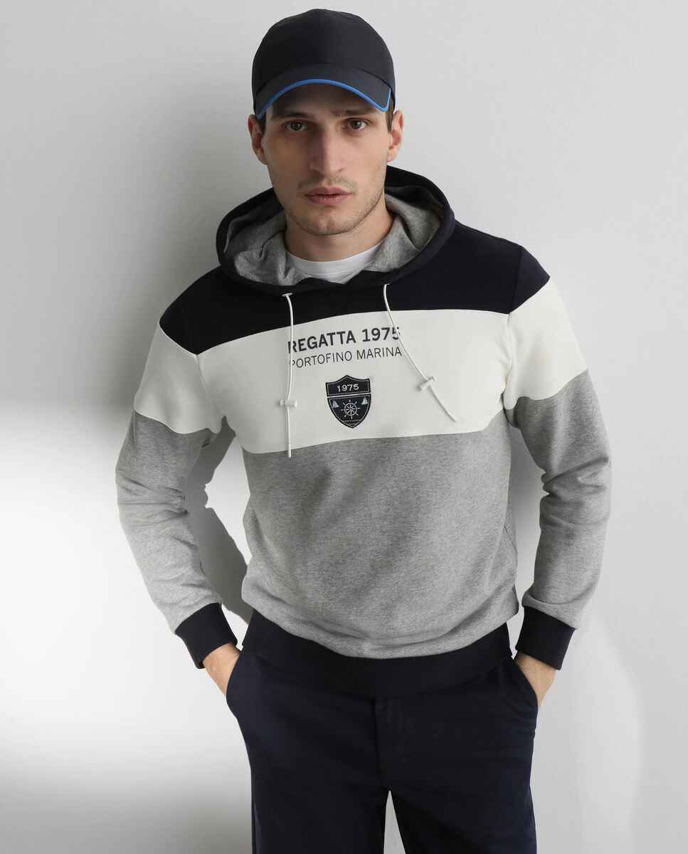 Sudadera de hombre block con capucha de Emidio Tucci