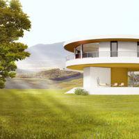 Una casa sostenible que gira para aprovechar el sol