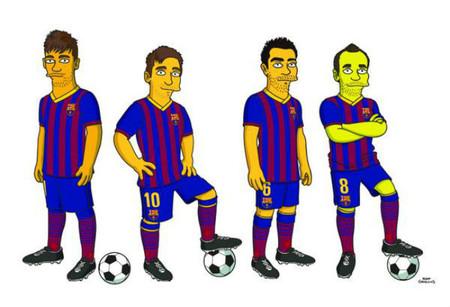 "Messi, Xavi, Iniesta y Neymar se ""Simpsonizan"""