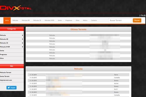 8 meses después de la Operación Cascada, DivxTotaL sigue vivo: varias webs continúan difundiendo contenido con la misma marca