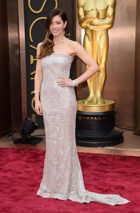 Jessica Biel de Chanel en los Oscar 2014