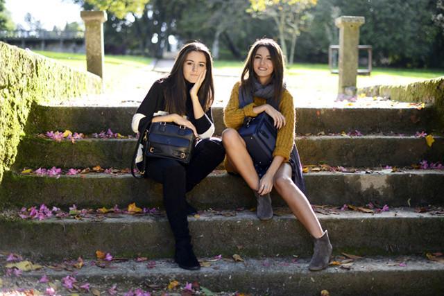 Alexandra de Lovely Pepa y su hermana para Loewe en la campaña Loewe sisters con el bolso Cruz 3