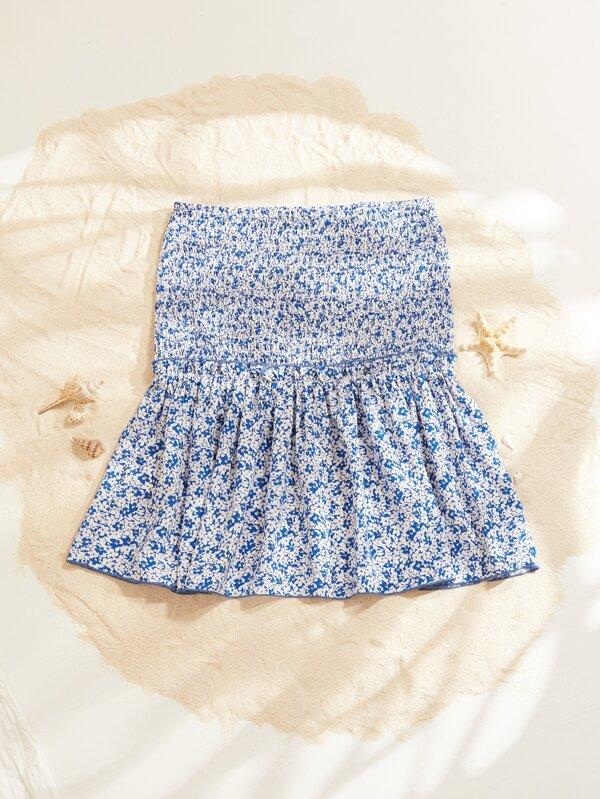 Faldas Volante rígido floral de margarita Bohemio