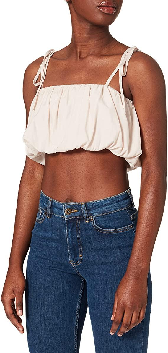NA-KD Ruffled Bustier Camisa para Mujer