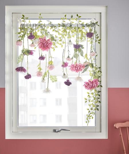 Decorar la ventana con flores