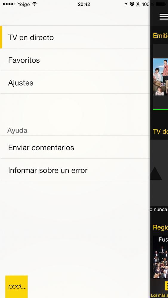 Aplicación iOS Peel Pronto