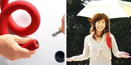 "Accesorio para un paraguas ""manos libres"""