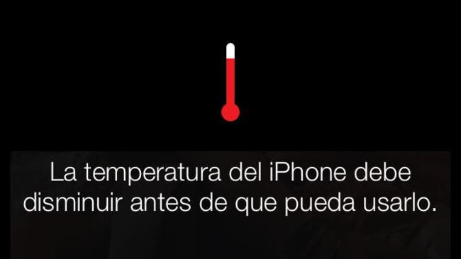 Aviso de temperatura de iOS 7