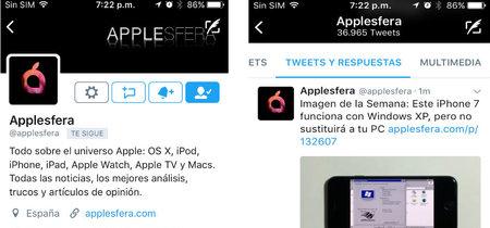 Twitter actualiza su app para iOS e incluye una nueva pestaña de 'tweets y respuestas'