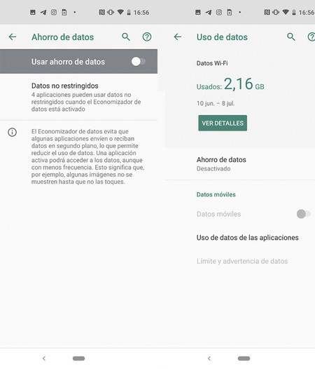 Ahorrar Datos Android
