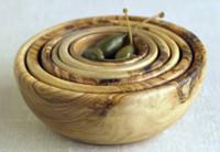 Set de bols en madera de olivo
