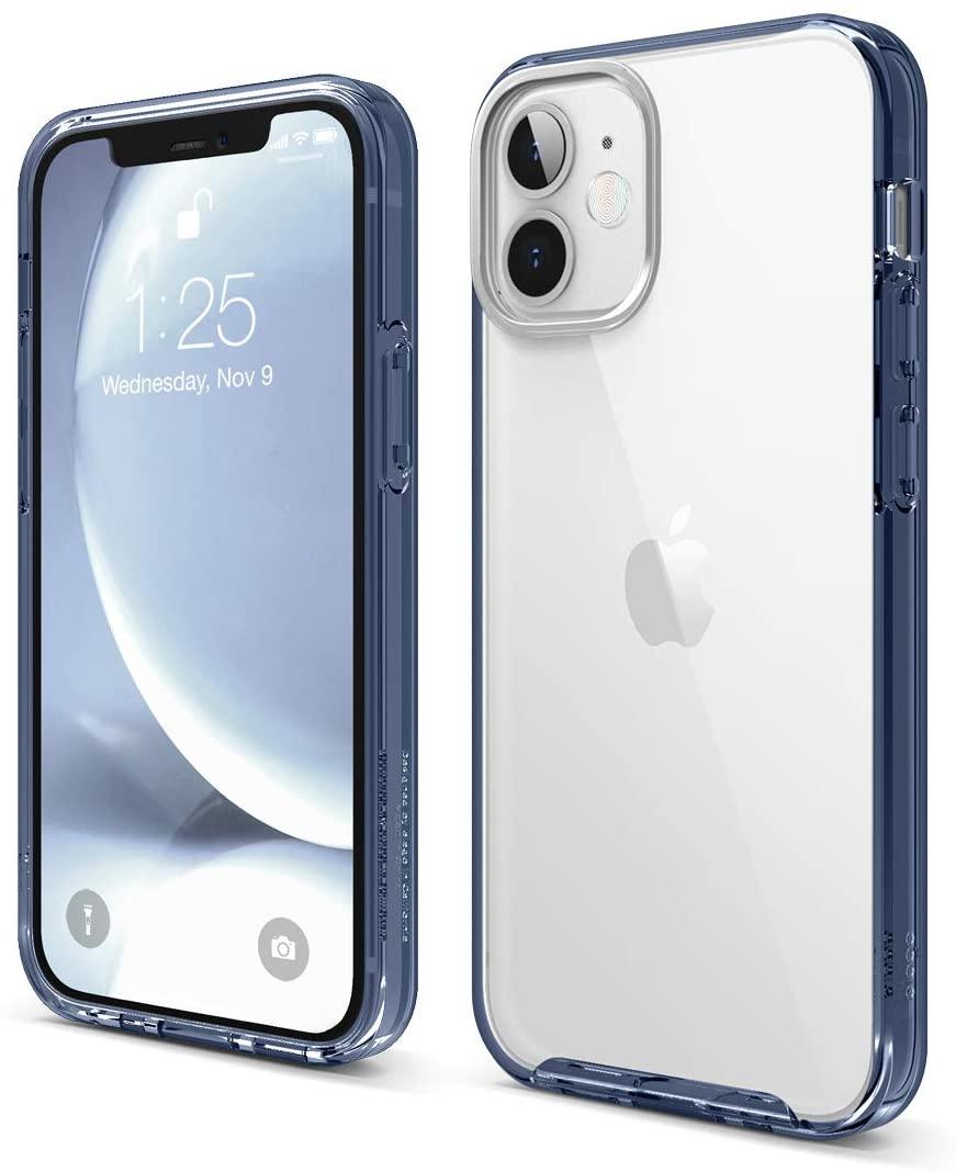 "elago Híbrida Transparente Funda Compatible con iPhone 12 Mini Case (5.4""), Reverso de Anti-Amarilleo PC Duradero, Flexible Bumper Protectora"